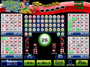 Play Bonus Bingo at Silver Oak Casino today!