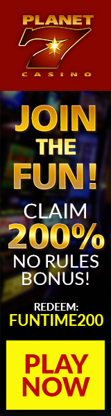 Planet 7│ Join the Fun│200% No Rules Bonus