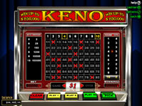 Play Keno at Planet 7 Casino
