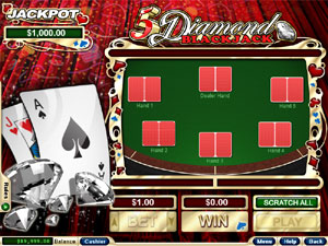 Play 5 Diamond Blackjack at Silver Oak Casino today!