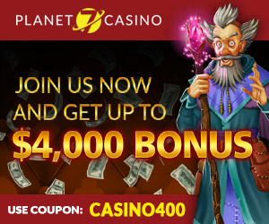 Planet7 | 400% Bonus | Video Poker