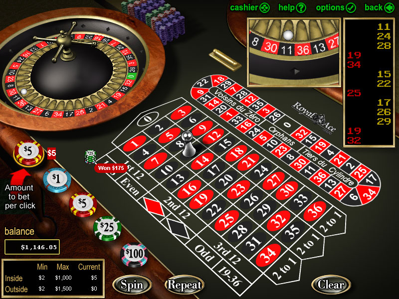 Play European Roulette at Royal Ace Casino Today!